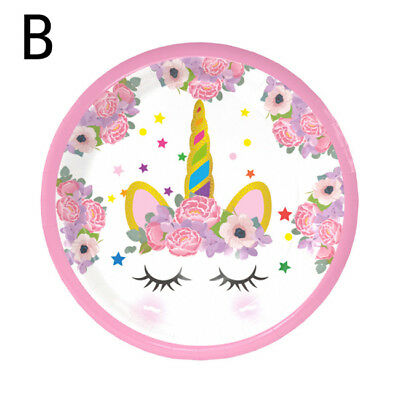Unicorn Birthday Party Supplies Favor Dishes Tray Plate Kids Party Decor  8C