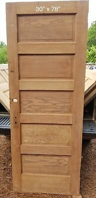 "30"" x 78"" Raised panel craftsman bedroom door"