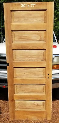 "30"" x 77"" Raised 6 panel pine bedroom / closet door"