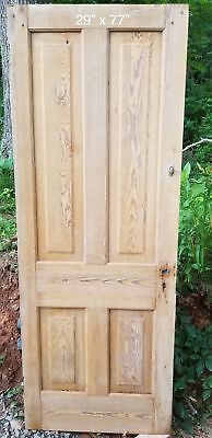 "29"" x 77"" Raised panel pine bedroom farmhouse style"