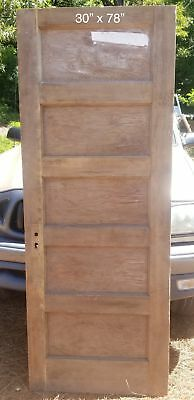 "30"" x 78"" Flat 5 panel pine bedroom door"