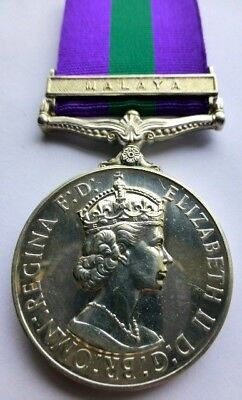 11th Hussars General Service Medal - Clasp Malaya TPR SMITH 11H Cavalry/Armoured