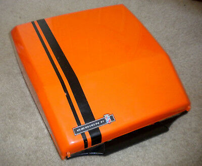 Smith-Corona SUPER G 1970s Manual ORANGE Typewriter by GHIA England CURSIVE