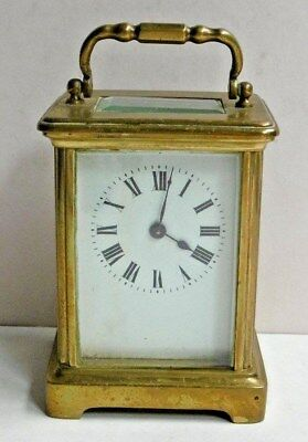 Antique French Wind Up Carriage Clock Brass Not Working ?