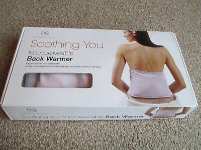 Aroma Home Soothing You Microwavable Lavender Back Warmer Cushion: Lilac NEW
