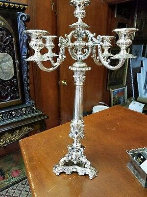A Massive Sterling Silver Judaica Candelabra Made In Italy 925 Estate Fresh