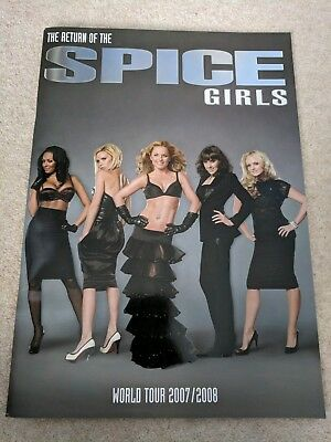 SPICE GIRLS -  Return of the Spice Girls World Tour 2007/2008 PROGRAMME