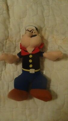 """Play-By-Play Plush Popeye Approx. 9"""" tall - Nice Condition"""