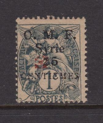 SYRIA 1920-1921 Aleppo Vilayet issue 25c on 1c red opt mint