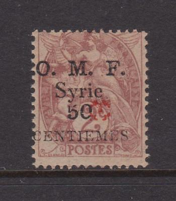 SYRIA 1920-1921 Aleppo Vilayet issue 50c on 2c red opt nhm
