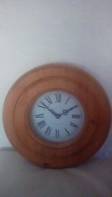 Wooden Roman Numerals Wall Clock- Kitchen, Hall, Dining Room (Battery operated)