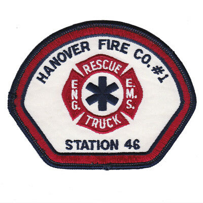 Pennsylvania - Hanover Fire Co 1 Engine Rescue Truck EMS Station 46 Patch PA