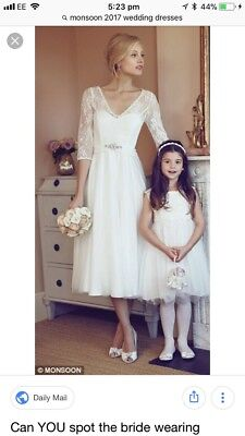 Brand New Monsoon Wedding Dress With Tags Size 20 Originally Cost £349
