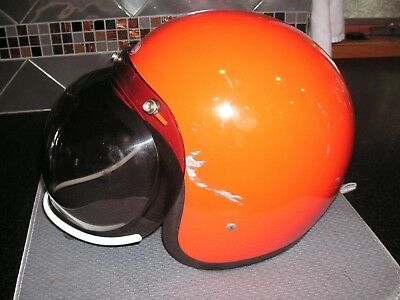 Vintage Bell Rt  Motorcycle Helmet With Bubble Shield Size 7 1/2