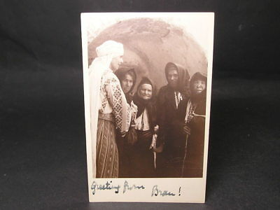 1920s Postcard In the Hand Writing of Queen Marie of Romania Greetings From Bran