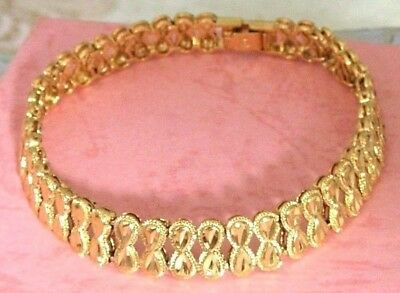 "10K YELLOW GOLD FILLED CHAIN BRACELET 7.6"" 13g  WOMENS JEWELRY #Y21 (USA)"