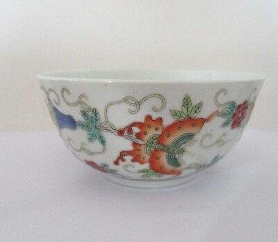 Antique  Chinese Bowl with butterflies Perfect condition