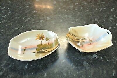 Vintage Japanese SHOFU small finger bowls / trays x 2 made in Japan