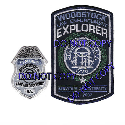 Georgia - Woodstock Police Department Explorer Patches Old Style GA