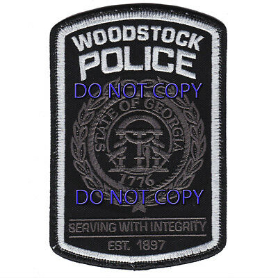 Georgia - Woodstock Police Dept Subdued Patch Worn by K-9 Unit Old Style GA
