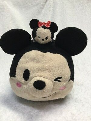 Set Disney Store Mickey & Minnie Mouse Winking Lot Tsum Tsum Plush Medium Mini