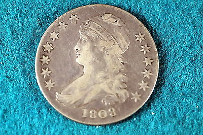 ESTATE FIND 1808 Capped Bust Half Dollar!! #F3501
