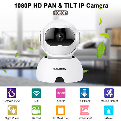 FLOUREON 1080P Wireless Smart WiFi CCTV Sécurité IP Caméra Surveillance TF Slot