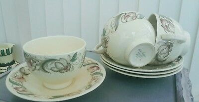 Susie Cooper Endon  Set Of 4 Cups And Saucers Art Deco