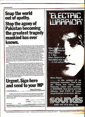 Private Eye Mag # 257  22 October 1971  Marc Bolan T.Rex Album advert rear cover