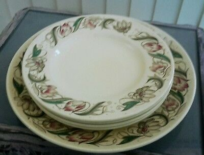 Susie Cooper Endon Set 4 Small Plates And Large Plate Lovely Condition