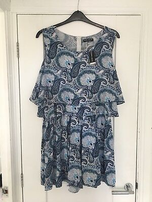 Brand New Ladies Blue Pattern Playsuit From Select Size 18
