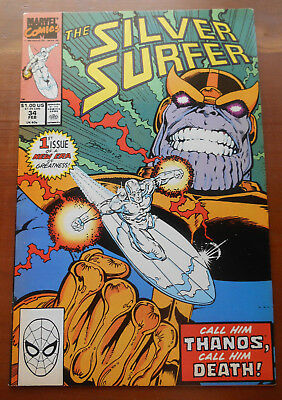 Silver Surfer #34 Very Fine Thanos!