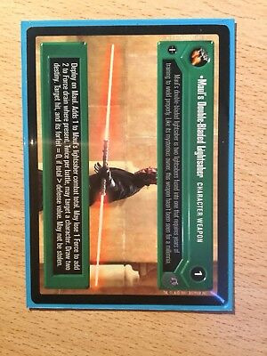 Star wars CCG Reflections 3 Premium Rare Card: Maul's Double Bladed Lightsaber