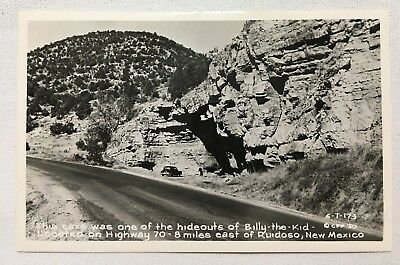 New Mexico NM Ruidoso, Billy the Kid Highway 70 Vintage Postcard RPPC