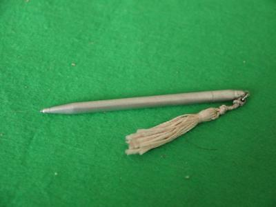 Excellent Working Vintage Sterling Silver Propelling Pencil With Tassle