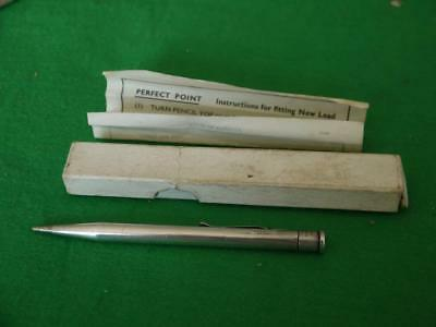 Good Vintage Sterling Silver Hallmarked 1947 Yard O Led Propelling Pencil + Box