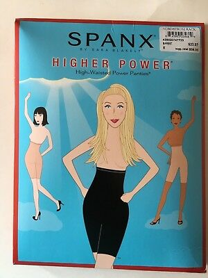 Spanx High-waisted Power Panty Size E Black NIP