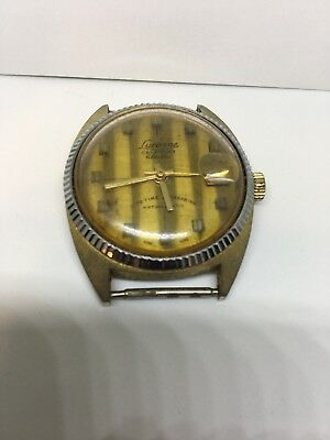 Nice Vintage Men's Lucerne Calendar Electra lifetime Wrist Watch parts/repair