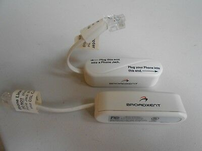 Lot of 2 Broadxent Model 6221 Microfilter Phone Line Adapters