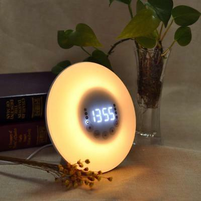 Bedside Lamps Electronic Alarm Clocks Wake up Light Touch Control Digital Clock