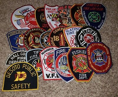 Lot of 20 Different Fire Dept Patches L@@K # 4