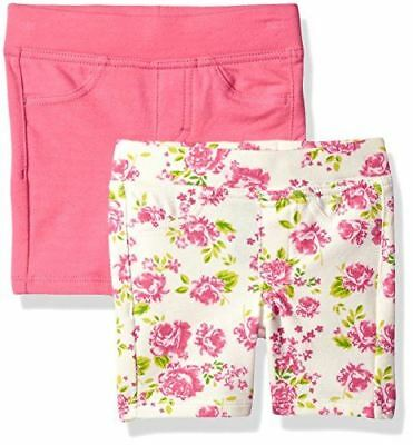 LEE Toddler Girls' Two Pack Bermuda Shorts, Flower, 3T