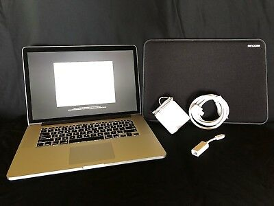 "2013 Apple MacBook Pro 15"" i7, 8GB RAM, 256GB SSD, only 50 OEM Battery Cycles!"