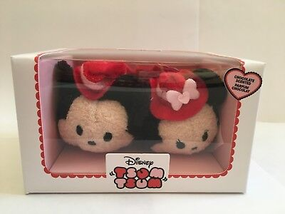 Disney Tsum Tsum ~ Mickey and Minnie Mouse 2017 Valentine's Day Set ~ New In Box