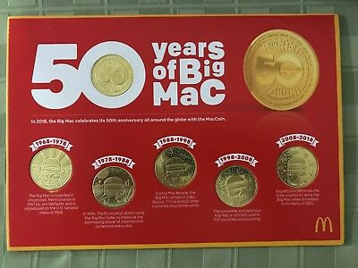 McDonalds Bic Mac Coin Set. Media Only Hand Out MacCoin