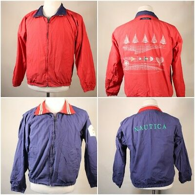 VTG 80s 90s Nautica Reversible Red Blue Jacket Size Youth Boys Large Yacht Club