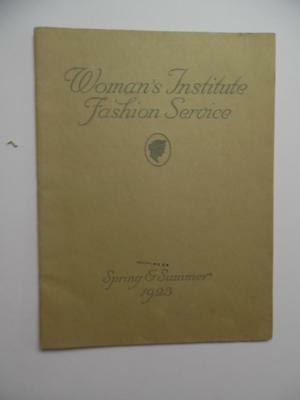 1923-1924 WOMEN'S INSTITUTE FASHION SERVICE Fall Winter Catalog Manual Vintage