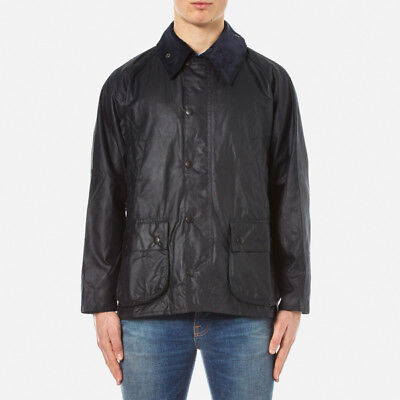 NWT Men's Barbour Bedale Wax Jacket Navy Size 30