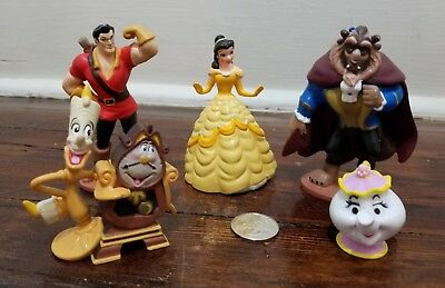 Disney Store Beauty and the Beast Princess Belle PVC Figures Set Cake Toppers B2