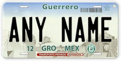 Guerrero Mexico Any Name Number Novelty Car License Plate C02